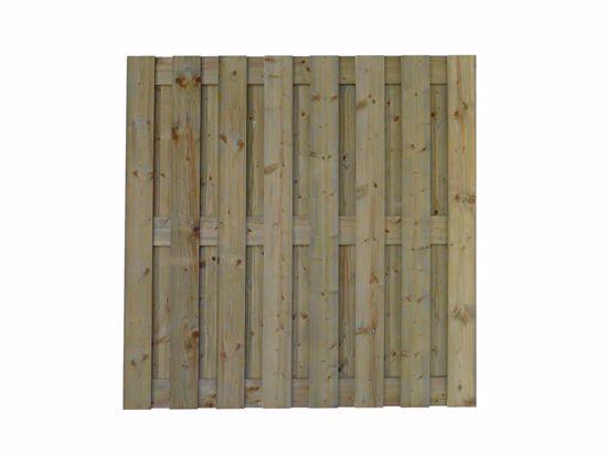 Afbeelding van Scherm verduurzaamd geschaafd 179x179 cm - 19x145 mm 18-planks