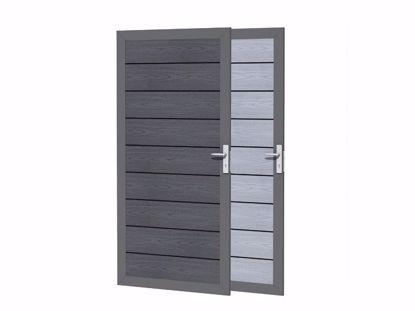 Afbeeldingen van Composiet deur 93x183 cm - houtmotief