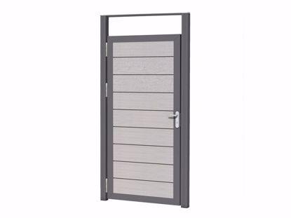 Afbeeldingen van Aluminium deurkozijn 108x270 cm - excl. deur t.b.v. composiet deur