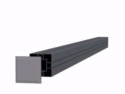 Afbeeldingen van Aluminium paal 84x84 mm - t.b.v. composiet scherm